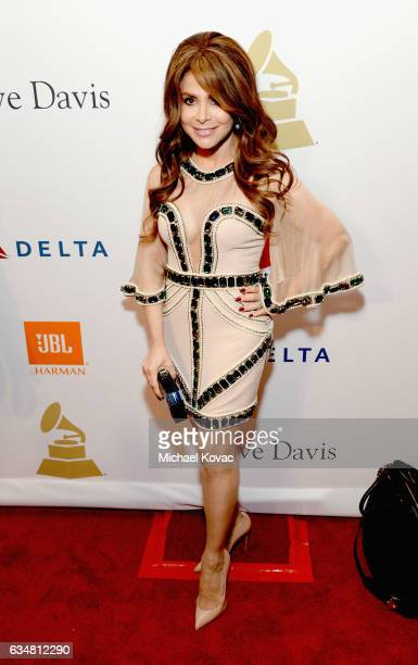 Recording artist Paula Abdul attends PreGRAMMY Gala and Salute to Industry Icons Honoring Debra Lee at The Beverly Hilton on February 11 2017 in Los...