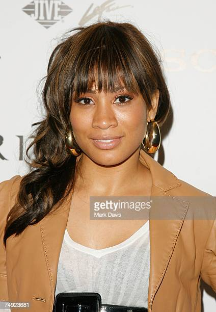 Recording artist Paula Campbell arrives to Zomba Label Group's PreBET Awards Party featuring Ciara held at Ritual Nightclub on June 25 2007 in...