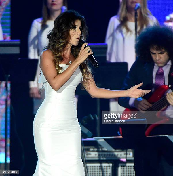 Recording artist Paula Fernandes performs onstage during the 2015 Latin GRAMMY Person of the Year honoring Roberto Carlos at the Mandalay Bay Events...