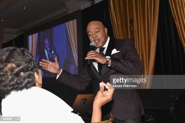 Recording artist Peabo Bryson performs at the 2017 DMF Care for Congo Gala at St Regis Hotel on September 16 2017 in Atlanta Georgia