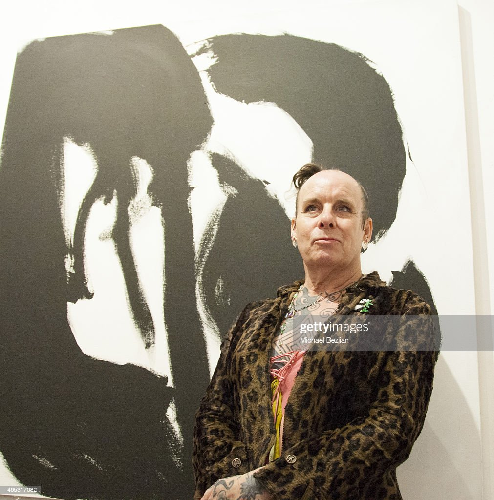 Artist & Legendary Guitarist Pearl Thompson Of The Cure Presents Solo Art Exhibition At Mr Musichead Gallery : News Photo