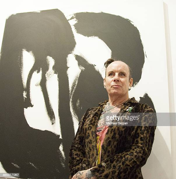 Recording Artist Pearl Thompson of The Cure presents a solo art exhibition at Mr Musichead Gallery on March 5 2015 in Los Angeles California