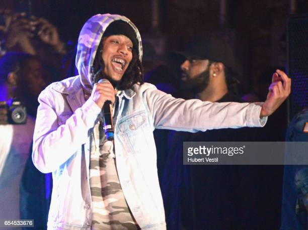 Recording artist performs onstage at the Mass Appeal music showcase during 2017 SXSW Conference and Festivals at Stubbs on March 16 2017 in Austin...