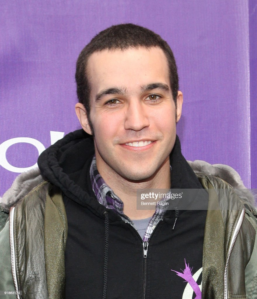 Recording artist Pete Wentz attends the It's Y!ou Yahoo! yodel competition at Military Island, Times Square on October 13, 2009 in New York City.
