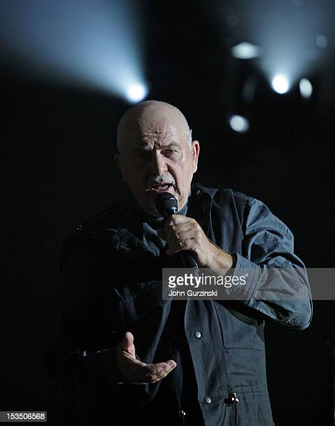 Recording artist Peter Gabriel performs during his Back to Front tour at PH Live at Planet Hollywood Resort Casino on October 5 2012 in Las Vegas...