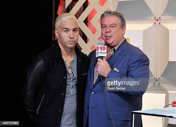 Recording artist Peter Wentz and radio personality Elvis Duran attend the 2014 iHeartRadio Music Festival at the MGM Grand Garden Arena on September...