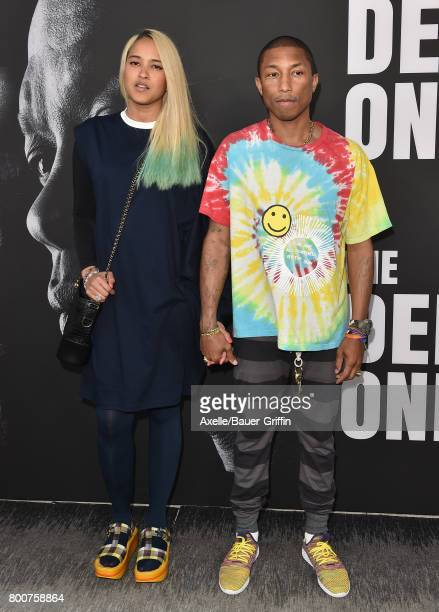 Recording artist Pharrell Williams and wife Helen Lasichanh arrive at the premiere of 'The Defiant Ones' at Paramount Theatre on June 22 2017 in...
