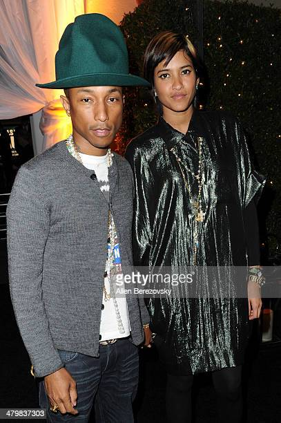 Recording artist Pharrell Williams and wife Helen Lasichanh attend the 2nd Annual Rebel With A Cause Gala cocktail reception at Paramount Studios on...