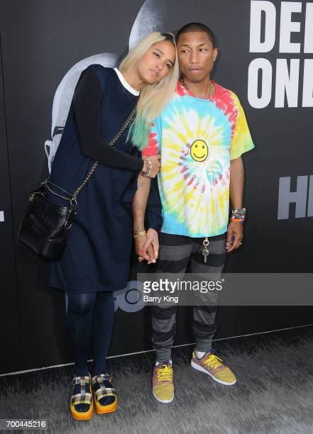 Recording Artist Pharrell Williams and wife Helen Lasichanh attend the Premiere of HBO's 'The Defiant Ones' at Paramount Theatre on June 22 2017 in...