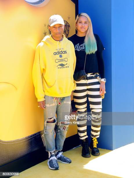 Recording artist Pharrell Williams and wife Helen Lasichanh attend the premiere of Universal Pictures And Illumination Entertainment's 'Despicable Me...