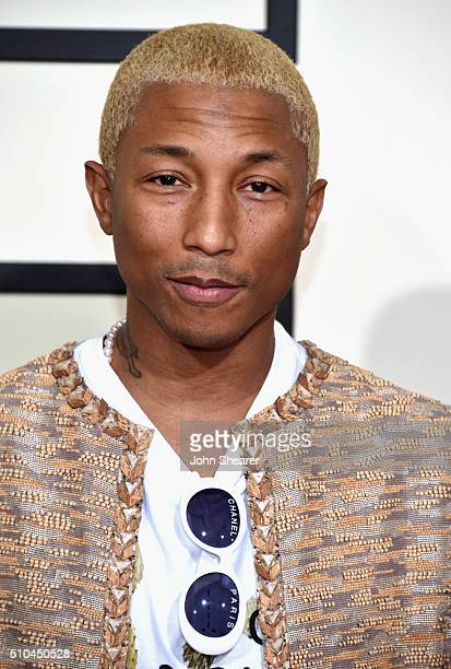 Recording artist Pharrell Williams attends The 58th GRAMMY Awards at Staples Center on February 15 2016 in Los Angeles California