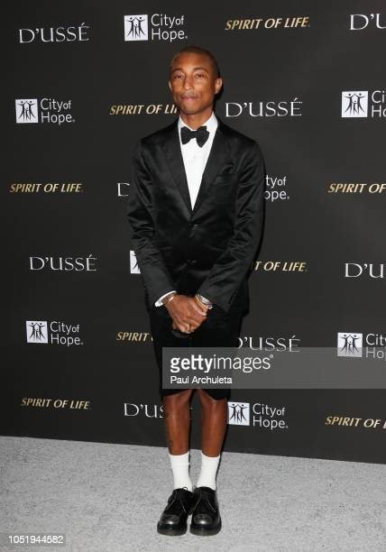 Recording Artist Pharrell Williams attends the City Of Hope Gala on October 11 2018 in Los Angeles California