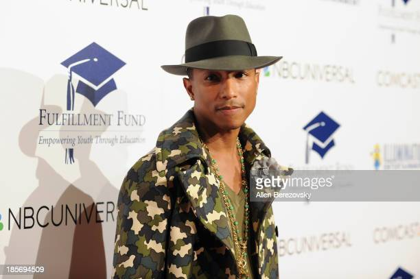 Recording artist Pharrell Williams attends the Fulfillment Fund Stars 2013 Benefit Gala at The Beverly Hilton Hotel on October 23 2013 in Beverly...