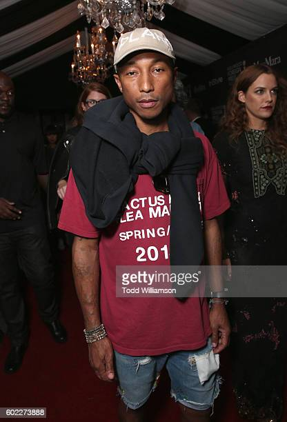 Recording artist Pharrell Williams attends the Hollywood Foreign Press Association and InStyle's annual celebration of the Toronto International Film...