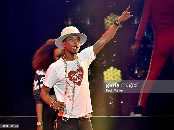 Recording artist Pharrell Williams performs onstage during KIIS FM's Jingle Ball 2014 powered by LINE at Staples Center on December 5 2014 in Los...