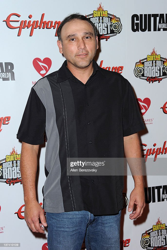 Recording artist Phillip Agrey arrives at the Guitar World's Rock & Roll roast of Zakk Wylde at City National Grove of Anaheim on January 19, 2012 in Anaheim, California.