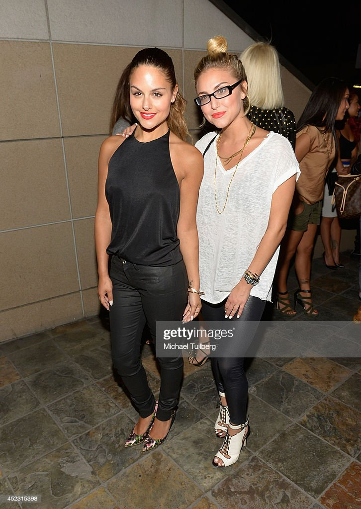 Recording artist Pia Toscano and actress Cassie Scerbo attend the Matt Leinart Foundation's 8th Annual Celebrity Bowl at Lucky Strike Bowling Alley on July 17, 2014 in Hollywood, California.