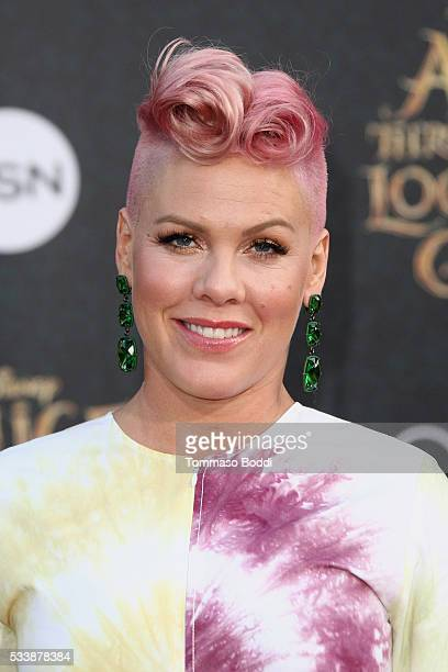 Recording artist Pink aka Alecia Mooreattends the premiere of Disney's 'Alice Through The Looking Glass' at the El Capitan Theatre on May 23 2016 in...