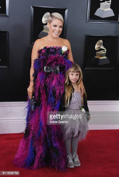 Recording artist Pink and Willow Sage Hart attend the 60th Annual GRAMMY Awards at Madison Square Garden on January 28 2018 in New York City