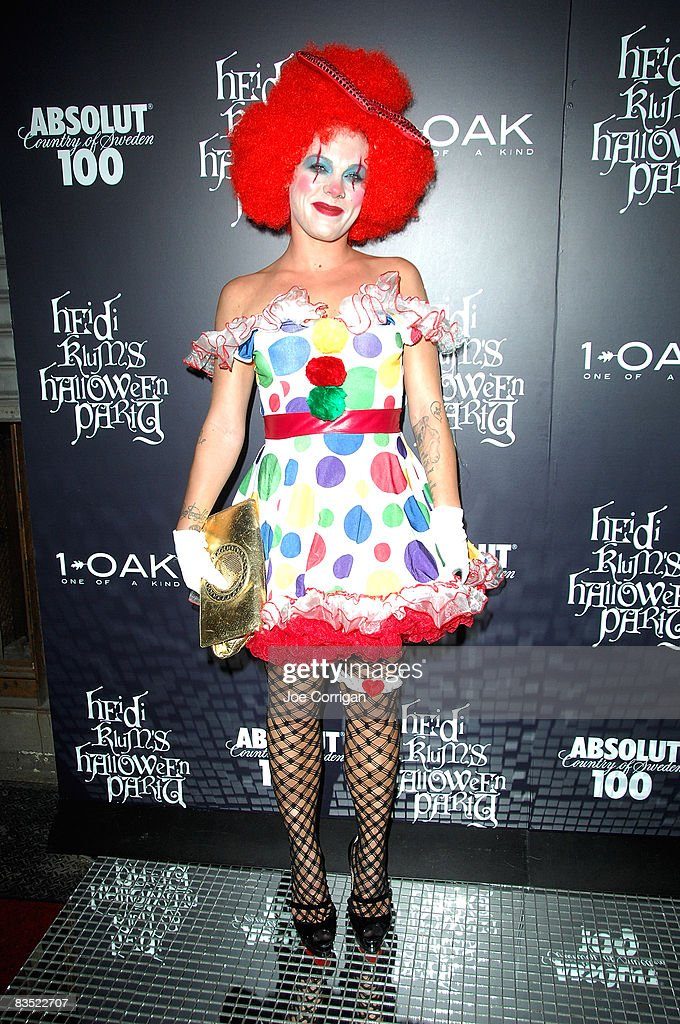 Recording artist Pink attends Heidi Klum's 9th annual Halloween party presented by Absolut 100 at 1 OAK on October 31, 2008 in New York City.