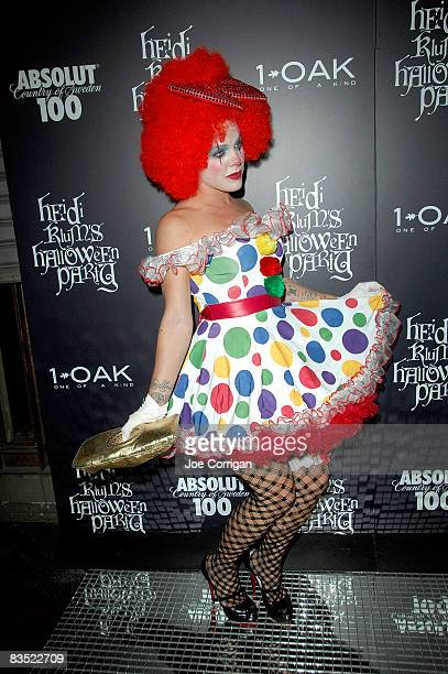 Recording artist Pink attends Heidi Klum's 9th annual Halloween party presented by Absolut 100 at 1 OAK on October 31 2008 in New York City