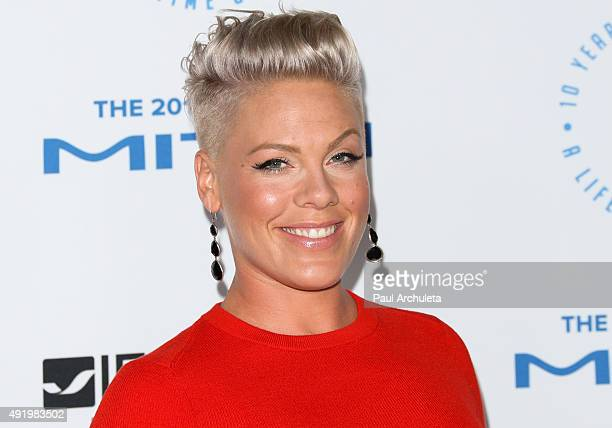 Recording Artist Pink attends the Autism Speaks To Los Angeles Celebrity Chef Gala at Barker Hangar on October 8, 2015 in Santa Monica, California.