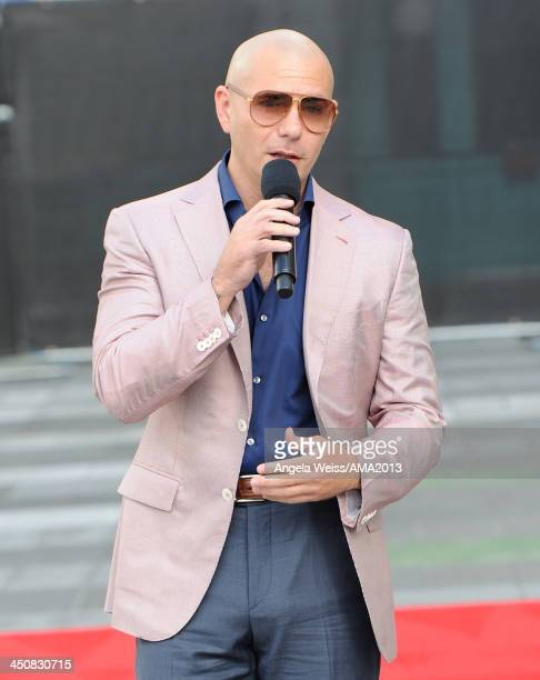 Recording artist Pitbull attends the 2013 American Music Awards press conference held at Nokia Plaza L.A. LIVE on November 20, 2013 in Los Angeles,...
