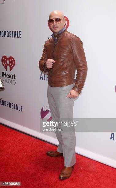 Recording Artist Pitbull attends Z100's Jingle Ball 2013 at Madison Square Garden on December 13 2013 in New York City