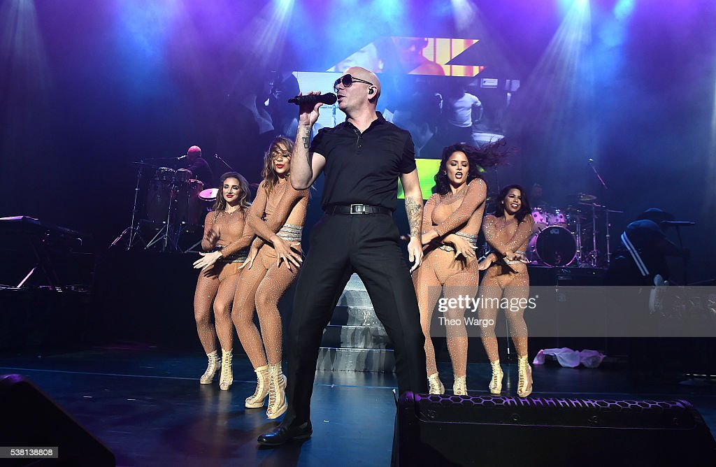 Recording artist Pitbull performs onstage during 103.5 KTU's KTUphoria 2016 presented by Aruba, at Nikon at Jones Beach Theater on June 4, 2016 in Wantagh, NY.