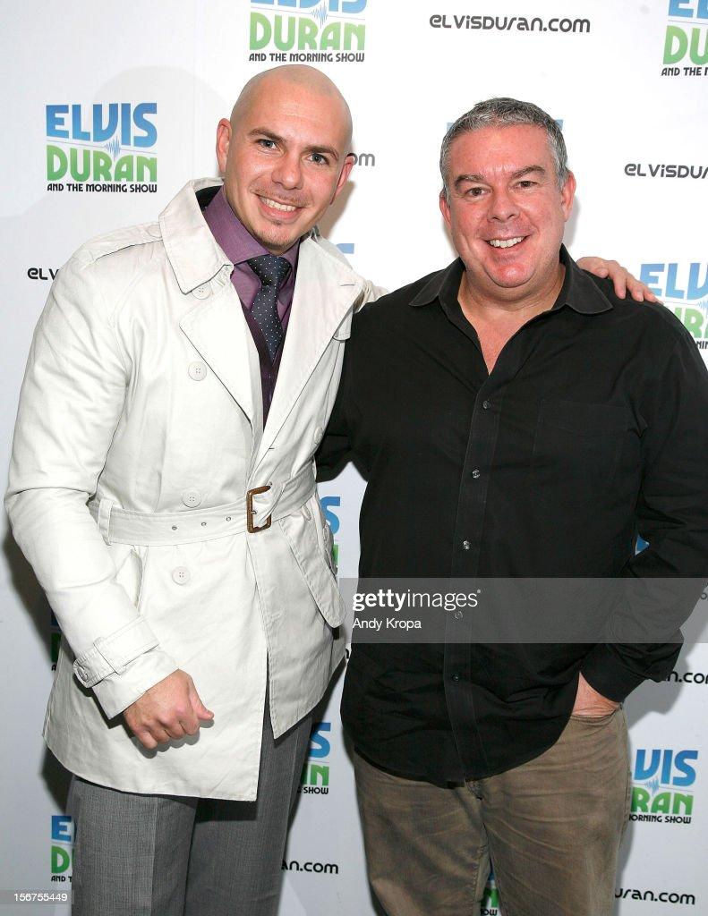 Pitbull Visits Elvis Duran Z100 Morning Show