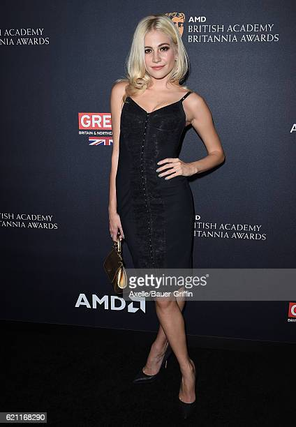 Recording artist Pixie Lott arrives at the 2016 AMD British Academy Britannia Awards presented by Jaguar Land Rover and American Airlines at The...