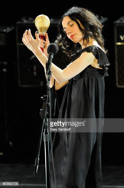 Recording artist PJ Harvey performs in concert at Irving Plaza on March 26 2009 in New York City