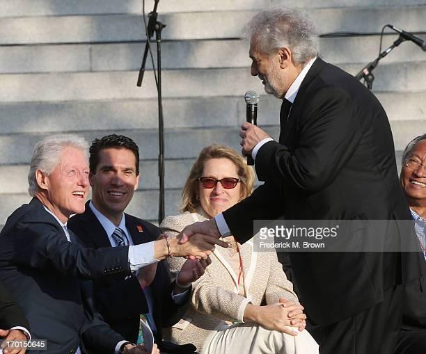 Recording artist Placido Domingo during President Bill Clinton Pays Tribute to Mayor Antonio Villaraigosa at Celebrate LA! on June 7, 2013 in Los...