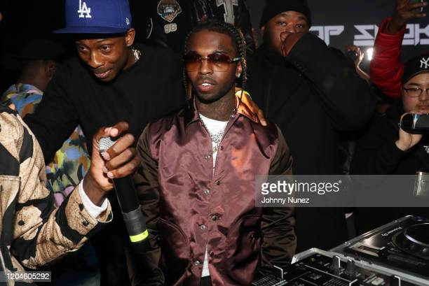 Recording artist Pop Smoke attends the Pop Smoke Listening Party at Villain on February 06 2020 in New York City