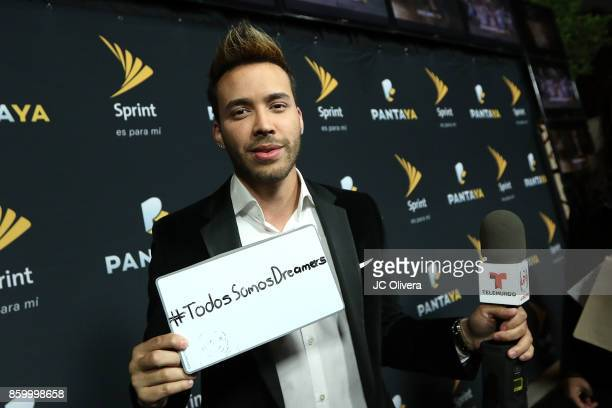 Recording artist Prince Royce attends PANTAYA Launch Party at Boulevard3 on October 10 2017 in Hollywood California
