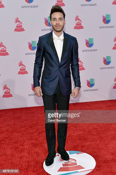 Recording artist Prince Royce attends the 16th Latin GRAMMY Awards at the MGM Grand Garden Arena on November 19 2015 in Las Vegas Nevada