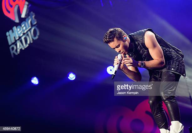 Recording artist Prince Royce performs onstage during the iHeartRadio Fiesta Latina festival presented by Sprint at The Forum on November 22 2014 in...