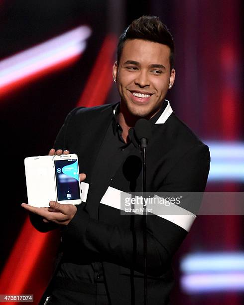 Recording artist Prince Royce speaks onstage during the 2015 Billboard Music Awards at MGM Grand Garden Arena on May 17 2015 in Las Vegas Nevada