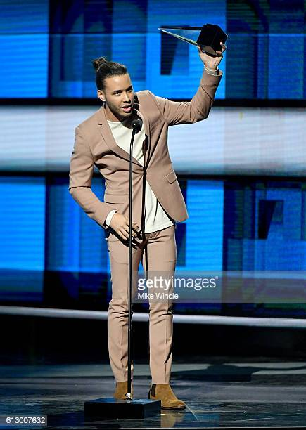 Recording artist Prince Royce winner of Favorite Song Tropical for 'Culpa Al Corazon' accepts award onstage during the 2016 Latin American Music...