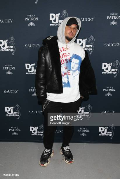 Recording artist producer Amir Obe attends as Def Jam Recordings Celebrates the Holidays with Patron Tequila at Spring Place on December 14 2017 in...