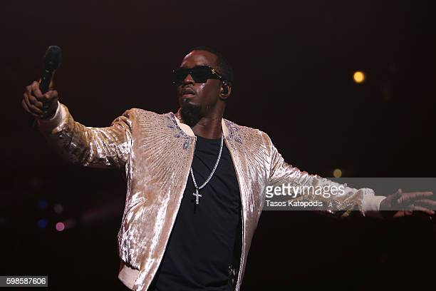 Recording artist Puff Daddy performs on stage during the Live Nation presents Bad Boy Family Reunion Tour sponsored by Ciroc Vodka AQUAhydrate DeLeon...