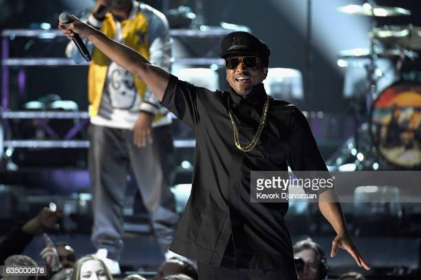 Recording artist QTip performs onstage during The 59th GRAMMY Awards at STAPLES Center on February 12 2017 in Los Angeles California