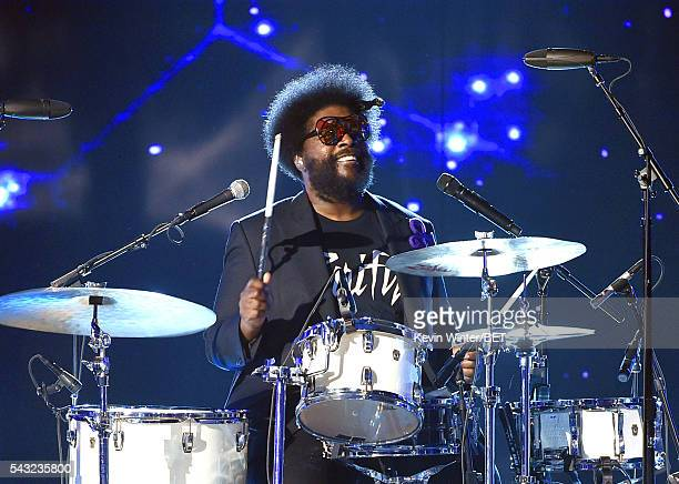 Recording artist Questlove of music group The Roots performs onstage during the 2016 BET Awards at the Microsoft Theater on June 26 2016 in Los...