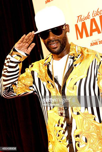 Recording Artist R Kelly attends Sony Pictures' THINK LIKE MAN TOO Atlanta Red Carpet Screening With Kevin Hart LaLa Anthony Terrence J Romany Malco...