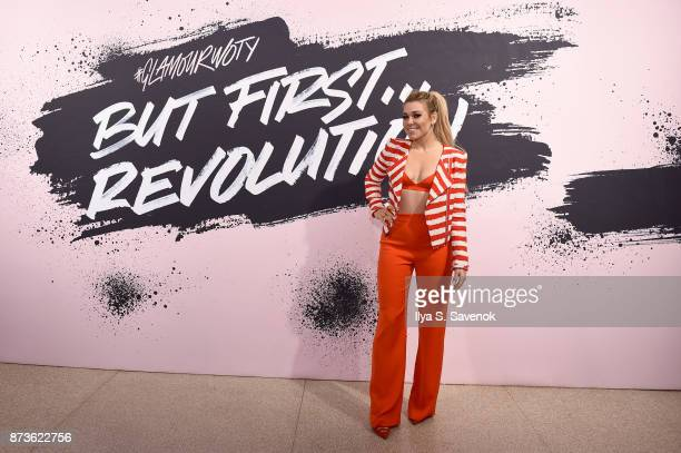 Recording artist Rachel Platten poses during Glamour Celebrates 2017 Women Of The Year Live Summit at Brooklyn Museum on November 13 2017 in New York...