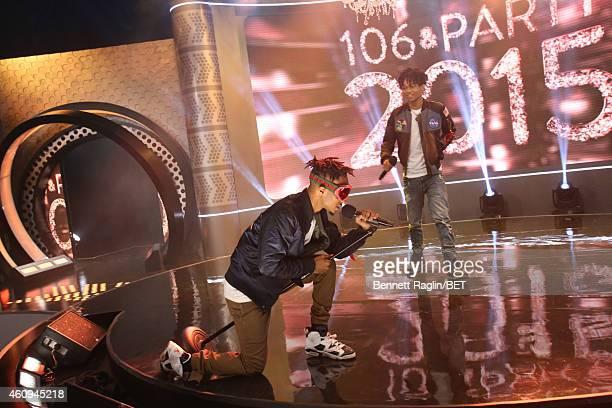 Recording artist Rae Sremmurd performs during 106 Party at BET studio on December 12 2014 in New York City
