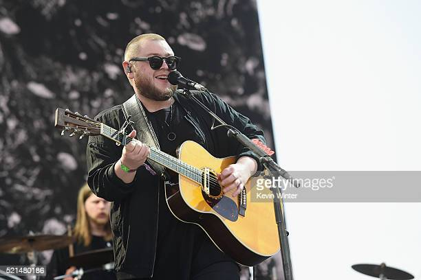 Recording artist Ragnar þórhallsson of Of Monsters and Men performs onstage during day 1 of the 2016 Coachella Valley Music Arts Festival Weekend 1...