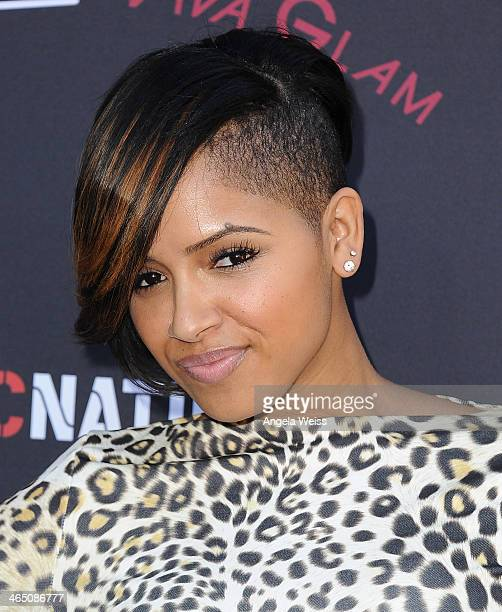 Recording artist RaVaughn arrives at the Roc Nation PreGrammy brunch presented by MAC Viva Glam at a private residency on January 25 2014 in Los...