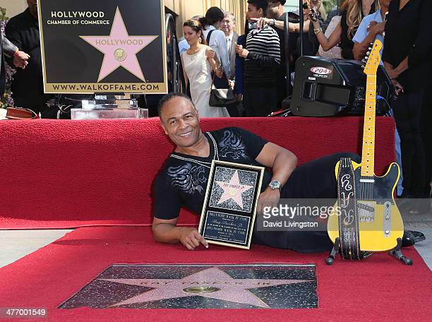 Recording artist Ray Parker Jr. Attends his being honored with a Star on the Hollywood Walk of Fame on March 6, 2014 in Hollywood, California.