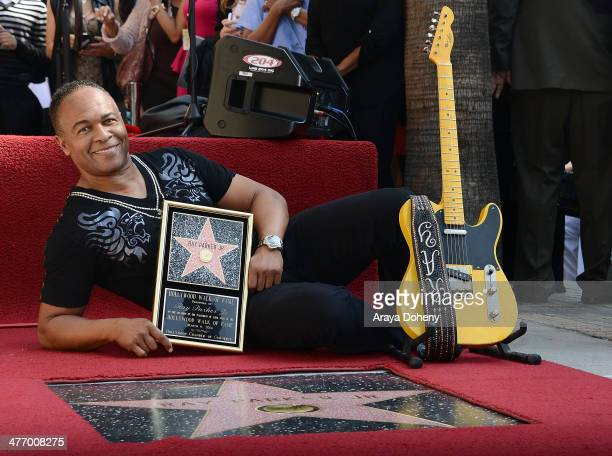 Recording artist Ray Parker Jr. Attends his Star on the Hollywood Walk of Fame reveal on March 6, 2014 in Hollywood, California.